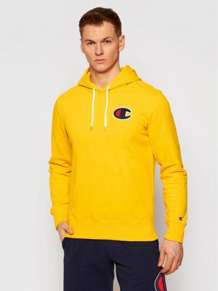 Satynowy dres - żółta Champion