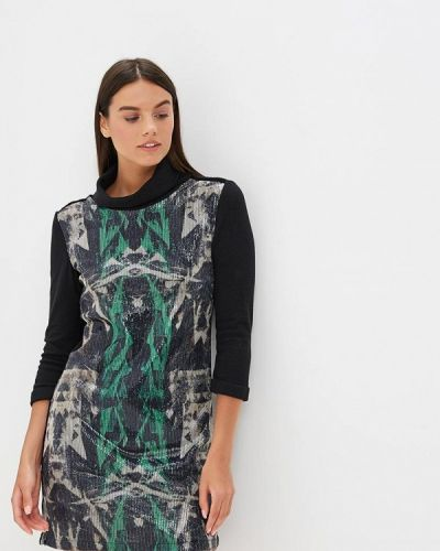 Платье вязаное черное Custo Barcelona
