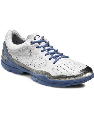 Кожаные кроссовки на каблуке текстильные Ecco