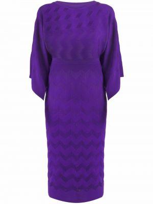 Шерстяное платье миди - фиолетовое Missoni