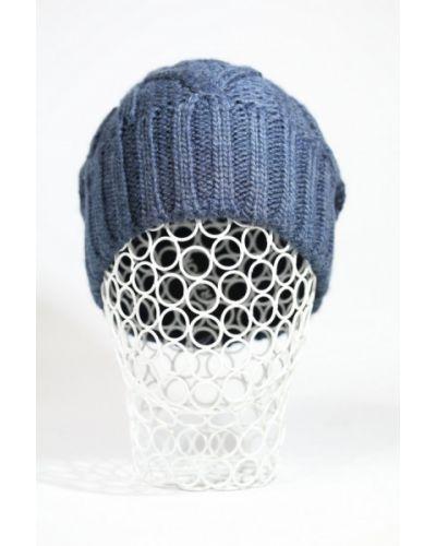 Синяя шапка флисовая Grazor