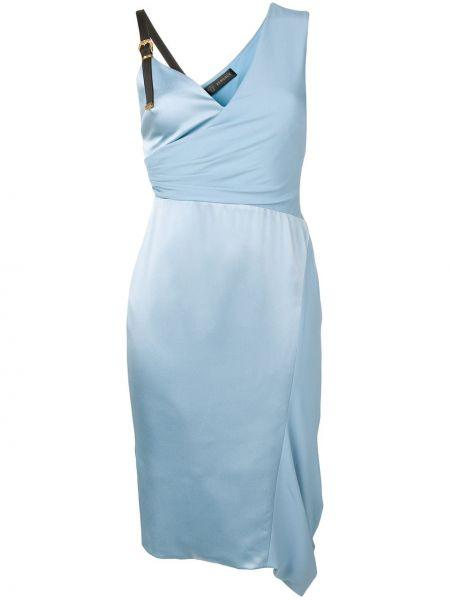 Асимметричное приталенное коктейльное платье без рукавов на молнии Versace
