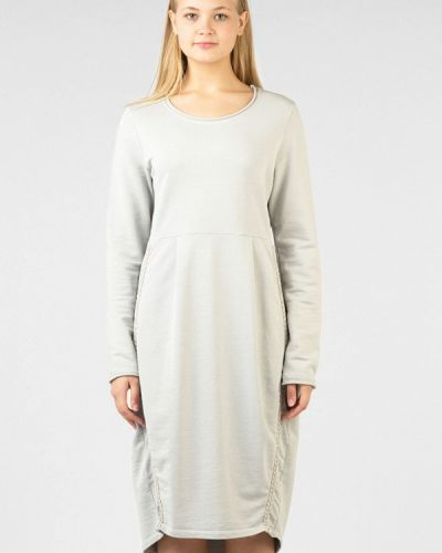 Платье серое осеннее Intrico