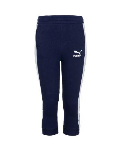 Спортивные брюки классические льняные с карманами Puma