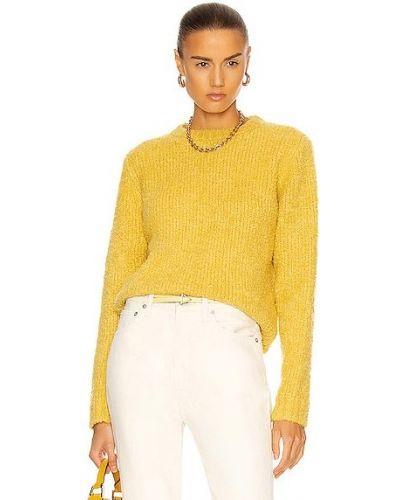 Кашемировая желтая свитер The Elder Statesman