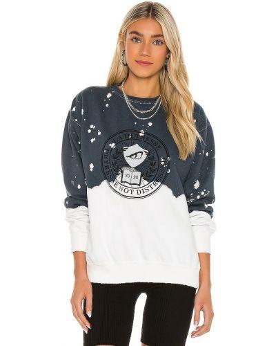 Niebieski bawełna bawełna pulower La Detresse