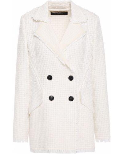 Белый пиджак двубортный с карманами Roland Mouret