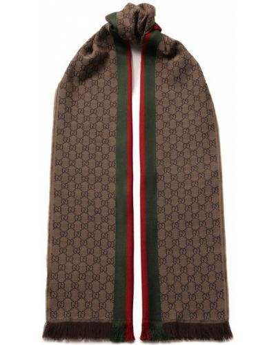Коричневый шарф Gucci