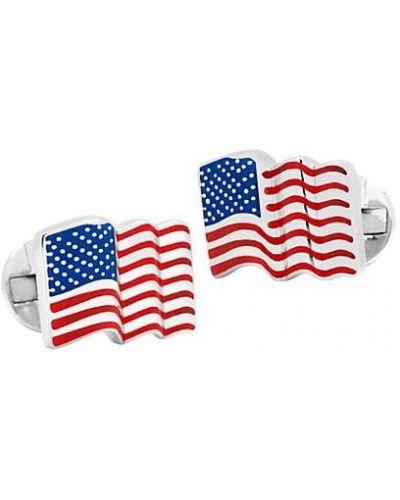 Серебряные запонки с американской проймой для полных Cufflinks, Inc.