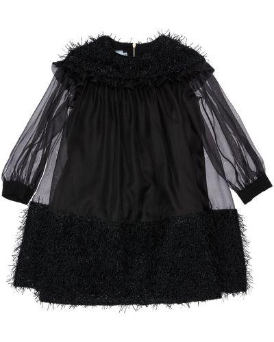 С рукавами платье макси с подкладкой с оборками Mi.mi.sol.