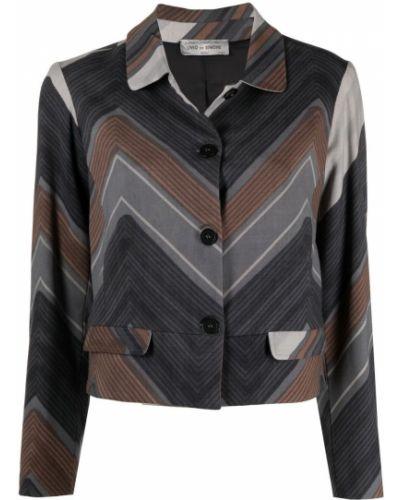 Шерстяной однобортный серый классический пиджак A.n.g.e.l.o. Vintage Cult