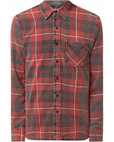 Koszula w kratę bawełniana z długimi rękawami Replay