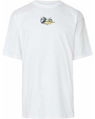 Biała t-shirt bawełniana z haftem Karl Kani