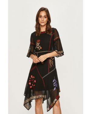 Платье миди с вышивкой повседневное Desigual