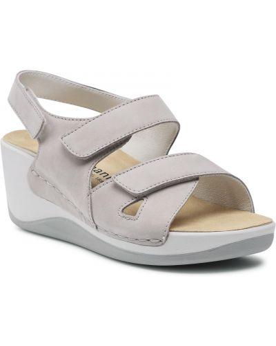 Szare sandały casual Berkemann