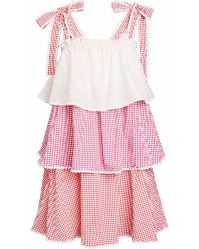Розовое платье с декольте с подкладкой English Factory