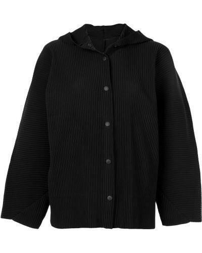 Куртка с капюшоном черная длинная Issey Miyake Cauliflower
