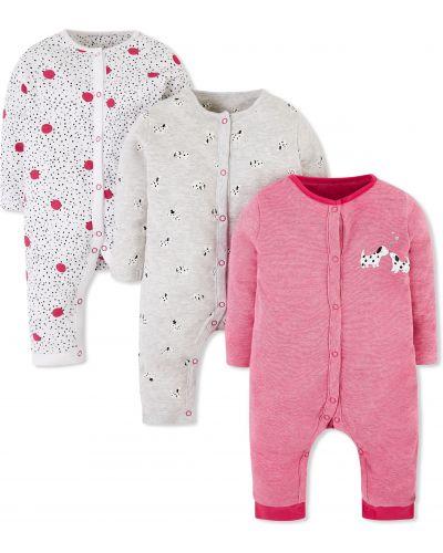 Ползунки серые розовый Mothercare