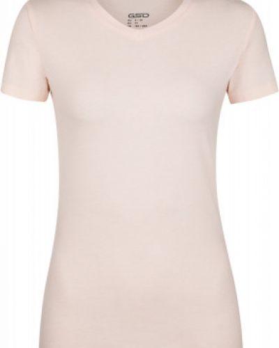Приталенная розовая хлопковая спортивная футболка Gsd