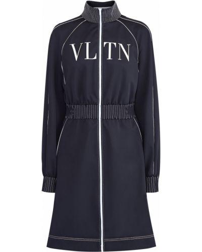 Платье с поясом спортивное с воротником Valentino