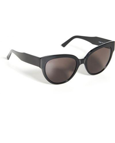 Текстильные черные солнцезащитные очки очищающие Balenciaga