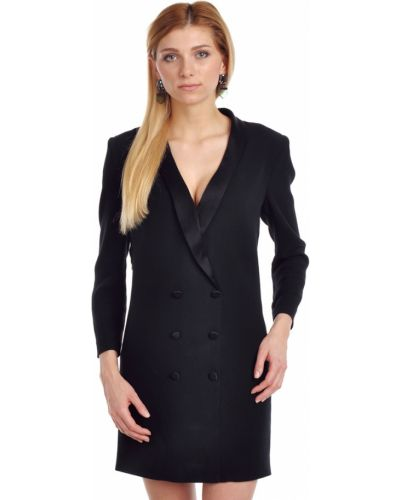 Платье из крепа - черное Ba&sh