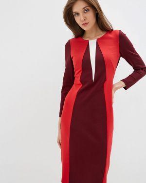Платье футляр бордовый мадам т