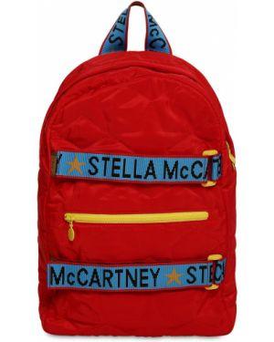 Plecak z logo z haftem Stella Mccartney Kids
