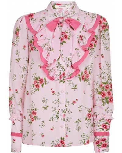 Розовая шелковая блузка Rodarte