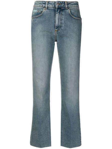Классические с завышенной талией синие прямые джинсы с карманами Alexa Chung