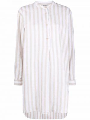 Хлопковая рубашка в полоску на пуговицах Woolrich