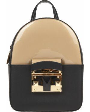 Кожаный рюкзак - черный Cromia