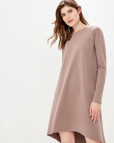 Платье осеннее бежевое Coclo