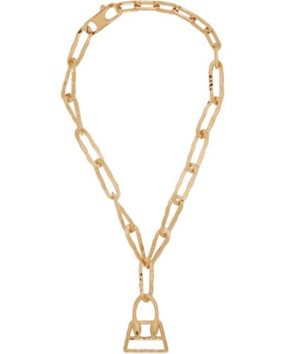 Ожерелье золотое Jacquemus