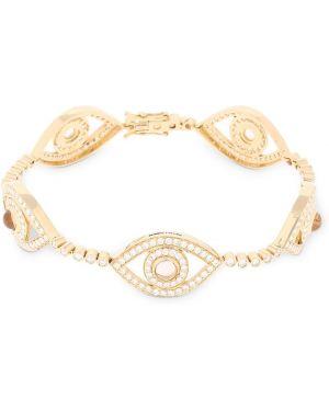 Żółta złota bransoletka ze złota z diamentem Netali Nissim