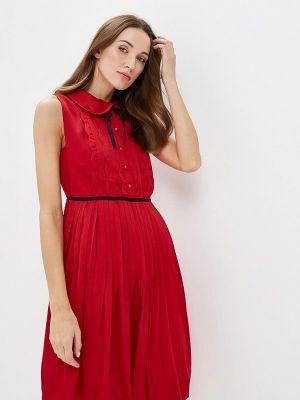 Прямое платье - красное Paccio