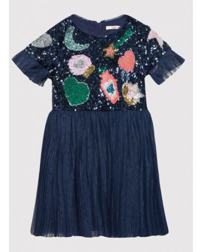 Sukienka elegancka granatowa Billieblush