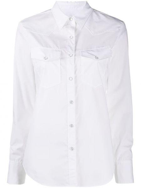 Biała klasyczna koszula bawełniana z długimi rękawami Rag & Bone