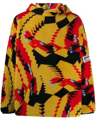 Прямой желтый пуловер с капюшоном Aries