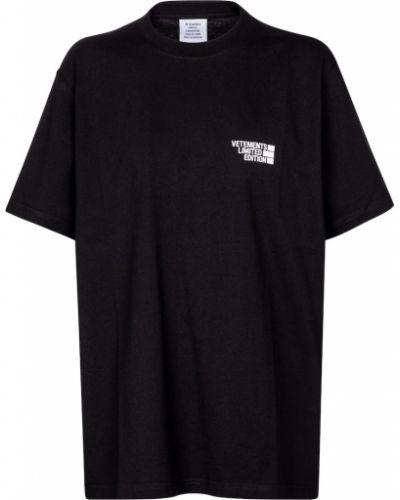 Ватная хлопковая черная рубашка Vetements