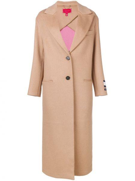 Однобортное шерстяное длинное пальто с капюшоном Hilfiger Collection