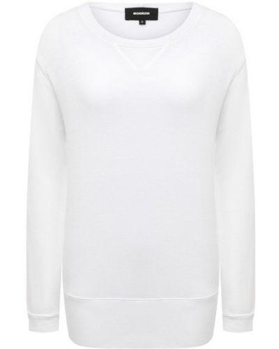 Белый хлопковый свитшот Monrow