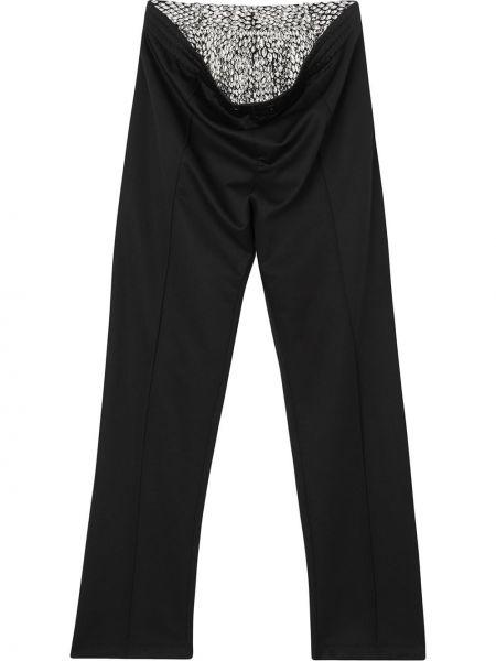Sportowe spodnie czarne wełniane Burberry