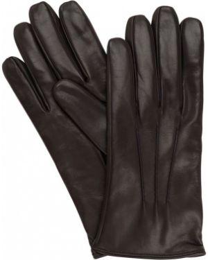 Brązowe rękawiczki skorzane Mario Portolano