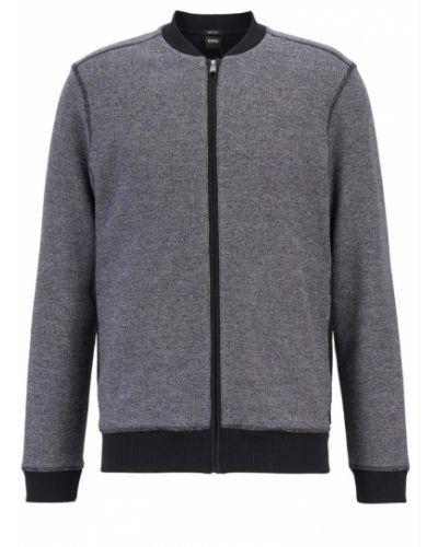 Sweter z kołnierzem z zamkiem błyskawicznym Boss