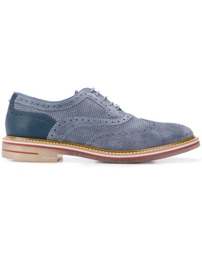 Броги на шнуровке - синие Brimarts