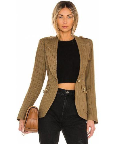Коричневый пиджак с нашивками с карманами Smythe