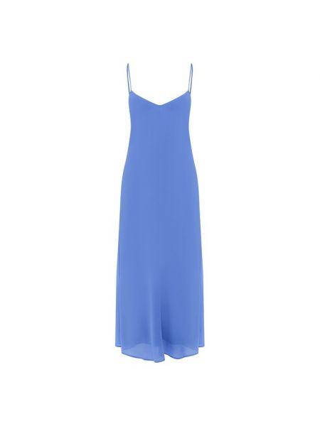 Платье из вискозы синее Polo Ralph Lauren
