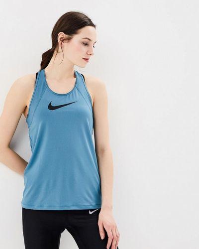 Синяя спортивная майка Nike