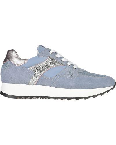 Кожаные кроссовки - голубые Nero Giardini